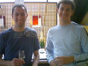 Allan and I enjoying some Champagne samples at the  Mercier Champagne house.