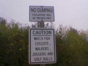 When I was running this morning, I saw this sign which  brightened my day.