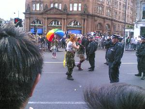 Some groups clash with police in Edinburgh. (richlloyd)