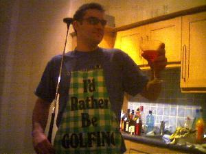 Pete modelling next season\'s look.