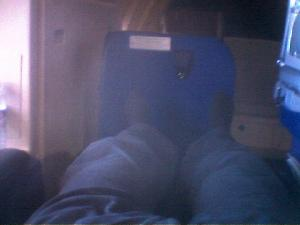 Travelling in full feet-up mode to San Francisco.  I\'m here until 1st April, so  if you\'re in the area let me know.