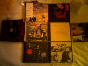 One swift trip to Tower Rekkids and I\'ve got a bagful of new tunes, mostly  from groups I\'ve never heard before.  Nice.