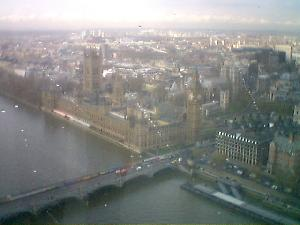 We went on the London Eye yesterday. Definitely a very recommended thing to do.