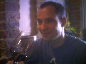 A glass of MontepuIciano in Montepulciano, at the cool Sax Wine Bar.