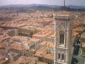 The rooftops of Florence from the top of the Duomo.  We\'ve now moved to a micro-location called Campegna in Marches to form a plan of action.