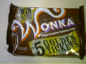 No golden ticket for me. Must try again!