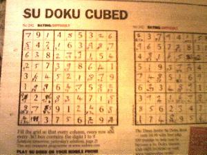 My first and second difficult rated Su Doku, complete.