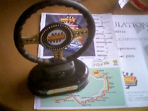 For Christmas, Hazel gave me a present to go driving at Knockhill, the only racing circuit in Scotland. Naturally, I couldn\'t go alone, so we both went at the weekend. It was excellent fun, just not long enough. Each driver was assessed, and a prize given for the best driver. No prizes for guessing who took the trophy (and it wasn\'t me)...