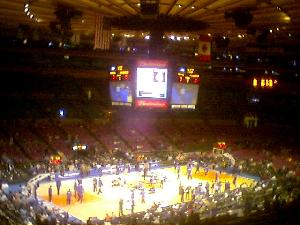 On Sunday we saw the New York Knicks getting beaten by one point, by the Dallas Mavericks.  Even though it was a pre-season game, the atmosphere was electric at the end.