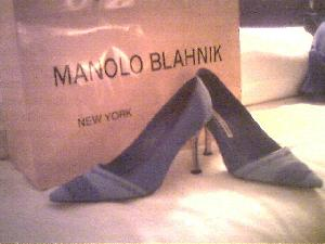 Here they are: one pair of incredible Manolo Blahnik\'s.  This picture does  not do them justice at all, plus they need a beautiful girl to be wearing them for the  full effect.  :-D