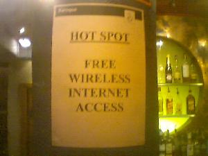 Baroque on Broughton Street in Edinburgh offers free wireless access. For once, I had nothing to do with it.