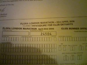 At the 11th hour, my London Marathon place is secured, thanks to the running club. :-D