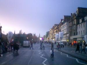 Princes Street preps for the big night.