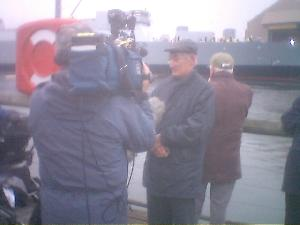 Dad was interviewed for the Scottish evening news!