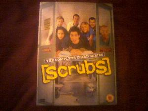 Hazel rocked up with the DVD set at lunchtime. I\'ve been spinning the disks all evening.  It doesn\'t get any better than Scrubs.