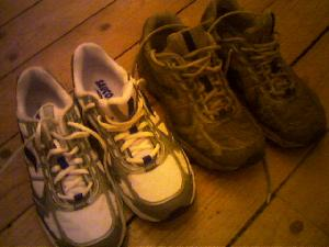 Can you guess which pair of running shoes has carried my weight for hundreds of miles?