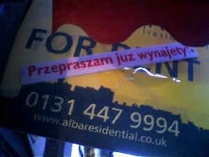 This shows how many Polish (it is Polish language, right?) live in Edinburgh!